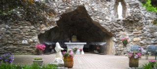 View of the Grotto at Lourdes in Litchfield