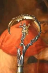 Crozier of Cardinal Posadas Ocampo, killed by members of a Mexican drug cartel in Guadalajara, 1993 inside the Basilica of Saint Bartholomew