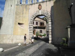 The gates to the city of Genazzano & Shrine of Our Lady of Good Counsel