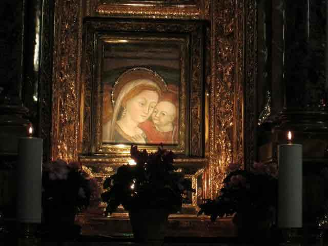 The image of Our Lady of Good Counsel in Genazzano