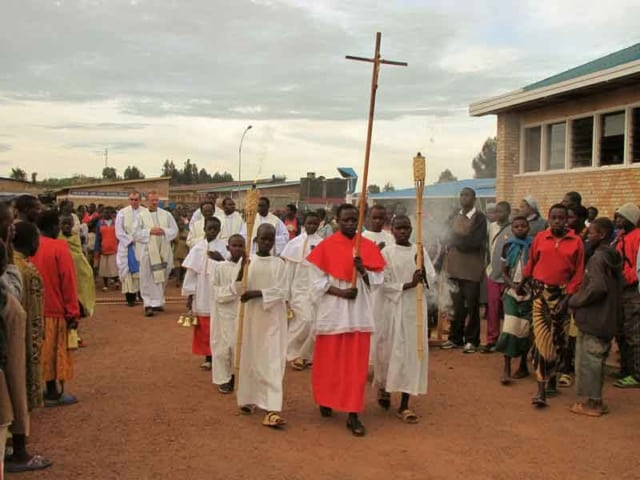 Procession into the Shrine at Kibeho