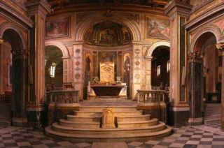The Main Altar in the Basilica of Saint Bartholomew in Rome