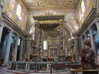 The Main Altar in the Basilica of Saint Mary Major in Rome