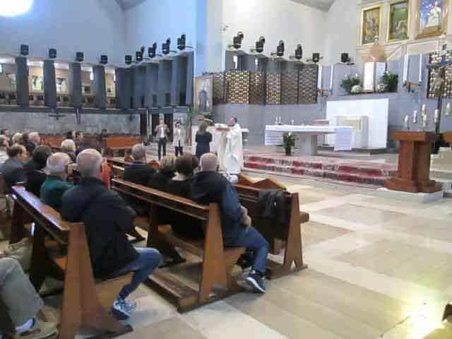 Mass inside the Sanctuary of the BVM Mother of God Crowned in Foggia
