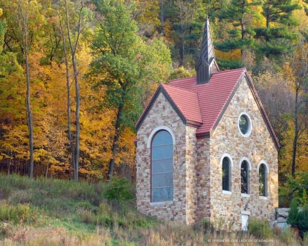 Outdoors you will find the Votive Chapel