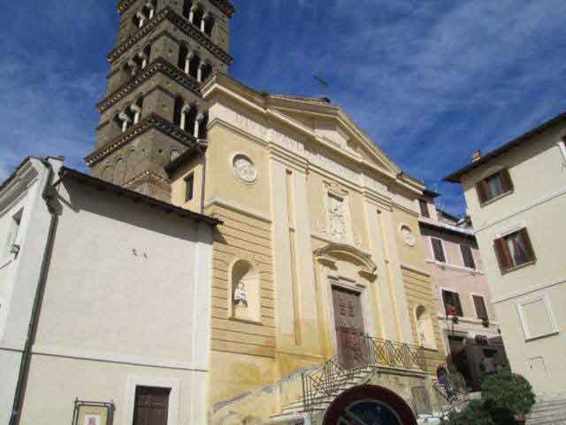 Exterior veiw of Our Lady of Good Counsel in Genazzano