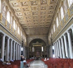 Interior of the Basilica of Saint Mary Major in Rome