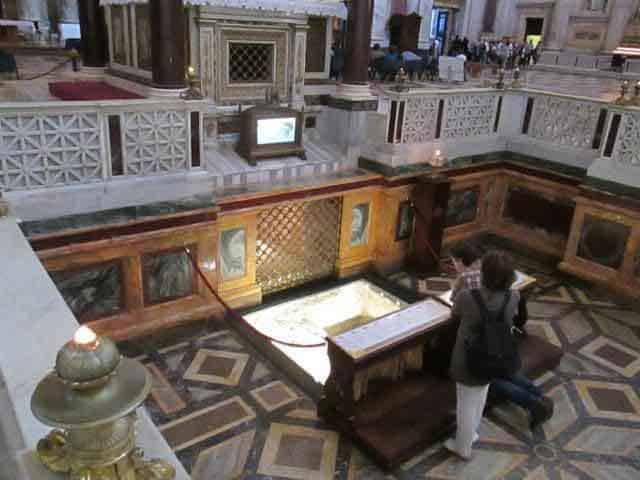 The tomb of Saint Paul, here in the Basilica of Saint Paul's Outside the Walls