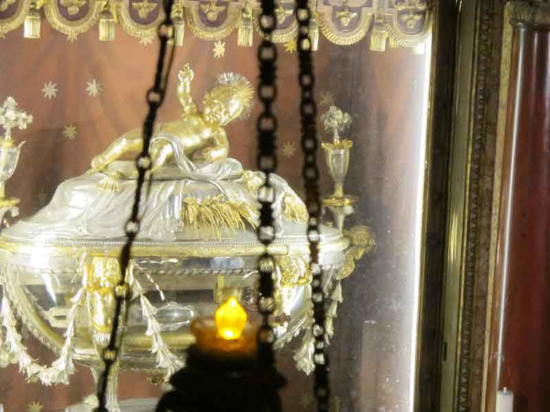 Close-up shot of the reliquary