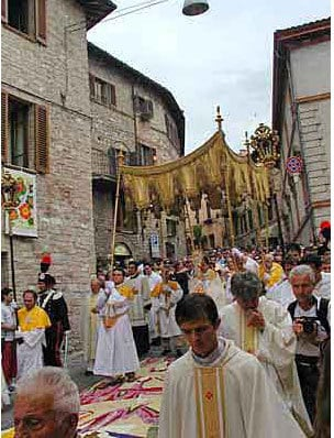 , Spello, Italy: Special Flower Procession on the Feast of Corpus Christi