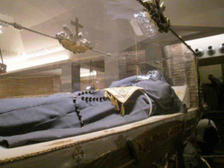 The body of St. Joseph of Cupertino is found in the crypt area of the church here is Osimo