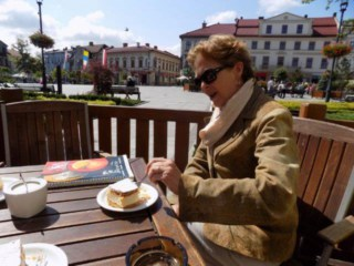 """Eating """"the Pope's Cake in Wadowice"""