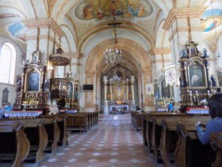 View of the interior of the church in Wadowice