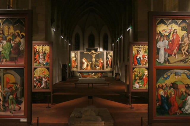 There are many altarpieces here in the Unterlinden Museum in Colmar ( Photo credit ACTA (Alscace Tourist Board)