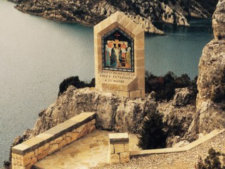 The Ninth Station of the Cross at the Sanctuary of Our Lady of Torreciudad in Aragon Spain