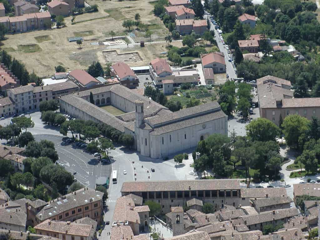 Overview of Gubbio and the Basilica of Saint Ubaldo