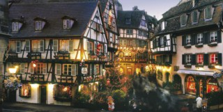 View of the city of Colmar at Christmas time ( Photo credit ACTA (Alscace Tourist Board)