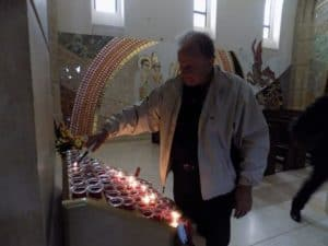 Lighting a candle for your intentions