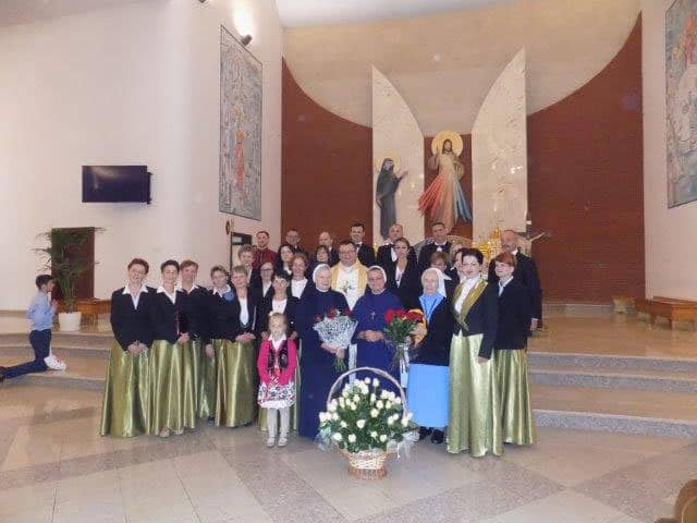 With friends and family after Mass