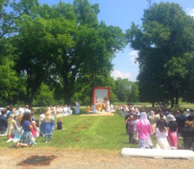 Outdoors on the Feast of Our Lady of Corpus Christi