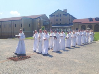 Procession on the Feast of Our Lady of Corpus Christi at Our Lady of Clear Creek Abbey