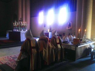 You are welcome to participate in Mass, Divine Office