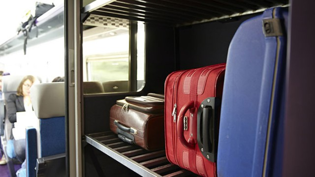There are luggage racks in each car (photo courtesy of RailEurope)