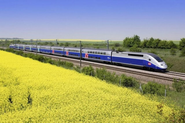 High-speed TGV trains in France (photo courtesy of RailEurope)