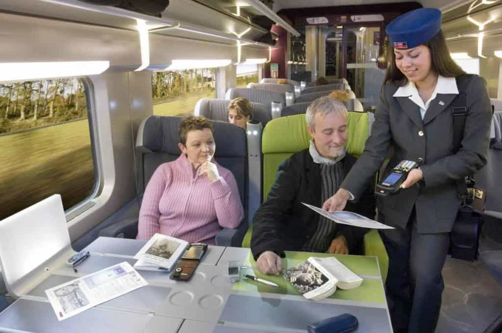 Onboard service is friendly and helpful (photo courtesy of RailEurope)