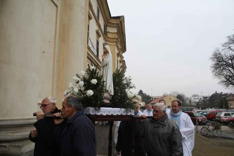 Carrying the Statue in Procession at Our Lady of Sorrows Basilica in Sastin, Slovakia