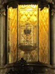 Closeup of the Holy Grail in the Cathedral in Valencia