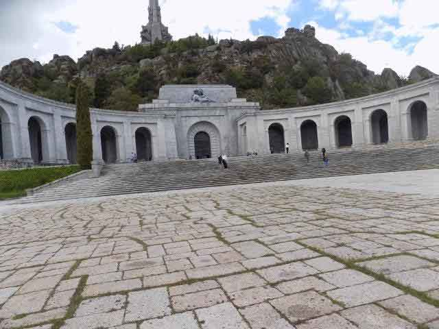 Exterior of the Basilica of the Valley of the Fallen in Spain