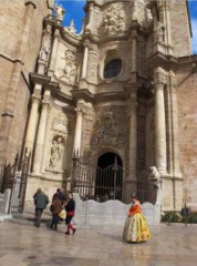 Exterior of the Cathedral in Valencia