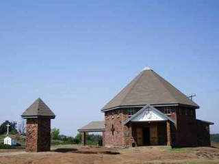 Ngame Shrine South Africa exterior view of the chapel