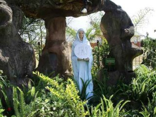 Statue of the Blessed Mother at the Ngaome Shrine