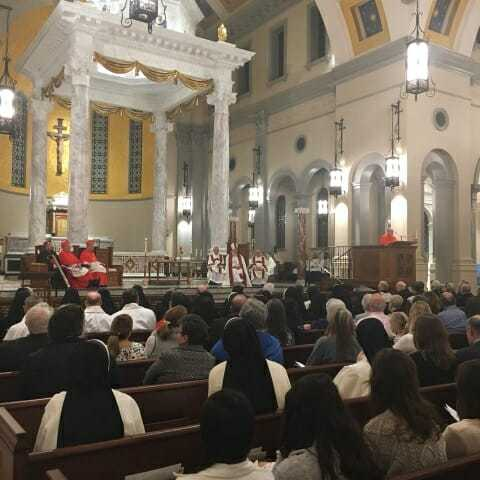 Mass at the dedication of the Cathedral of the Sacxred Heart in Knoxville, TN