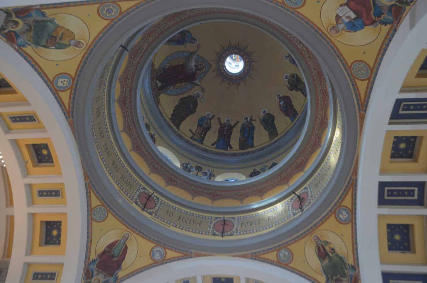 Interior of the dome of the Cathedral of the Sacred Heart in Knoxville