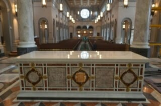 The altar at the Cathedral of the Sacred Heart in Knoxville