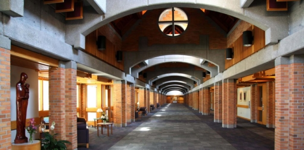 The concourse at the St. Benedict Center in Nebraska