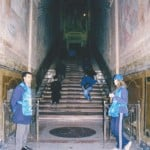 The entrance of the Holy Stairs before its' closure