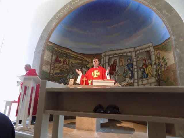 Mass in the Magdala Center in Israel