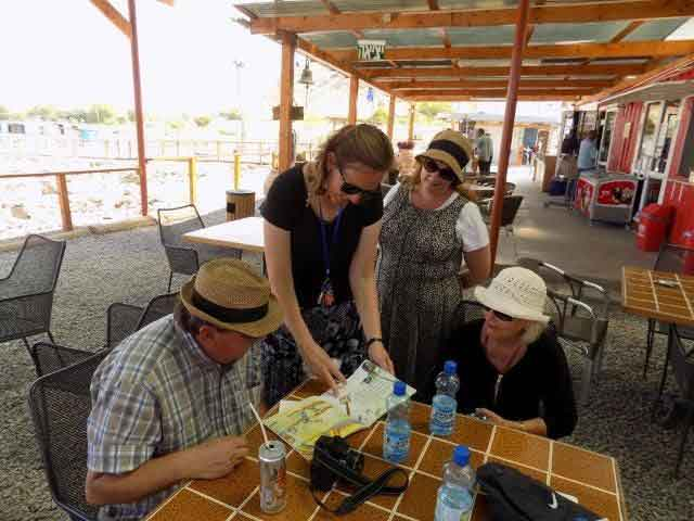 There are helpful guides at the Magdala Center in Israel
