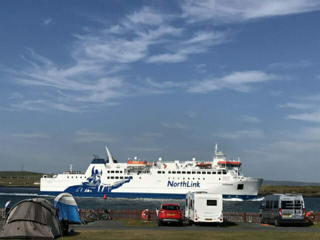 Northlink ferries take you to and from Aberdeen