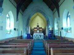 interior of St. Margaret's church in Lerwick, Shetland