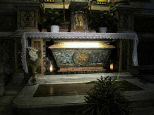 Tomb of Saint Monica in the Basilica of St. Augustine in Rome