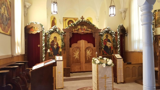 Altar at Resurrection Monastery in St Nazianz Wisconsin