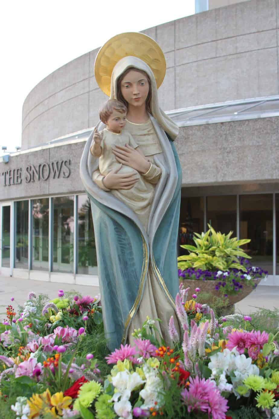 Statue of the Blessed Mother at Shrine of Our Lady of the Snows Belleville, Illinois