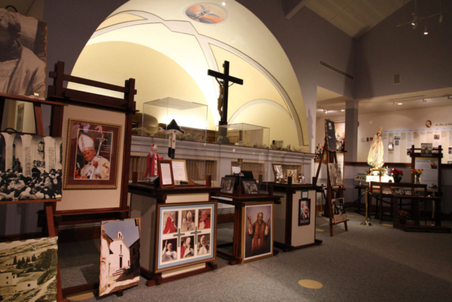 Display area in the Padre Pio Shrine Barto, PA