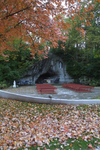 Lourdes Grotto at Shrine of Our Lady of the Snows Belleville, Illinois