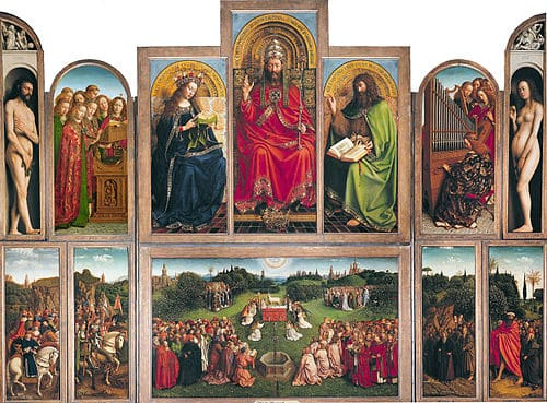 The Altarpiece in Ghent Belgium St. Bavo Cathedral